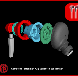 A Computed Tomography (CT) Scan of a limited edition Audio Technica in-ear monitor